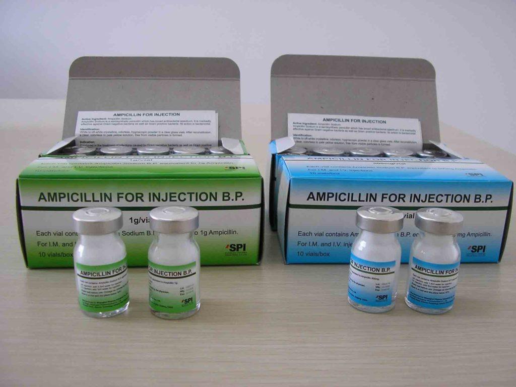 Ампициллин при воспаление лимфоузлов