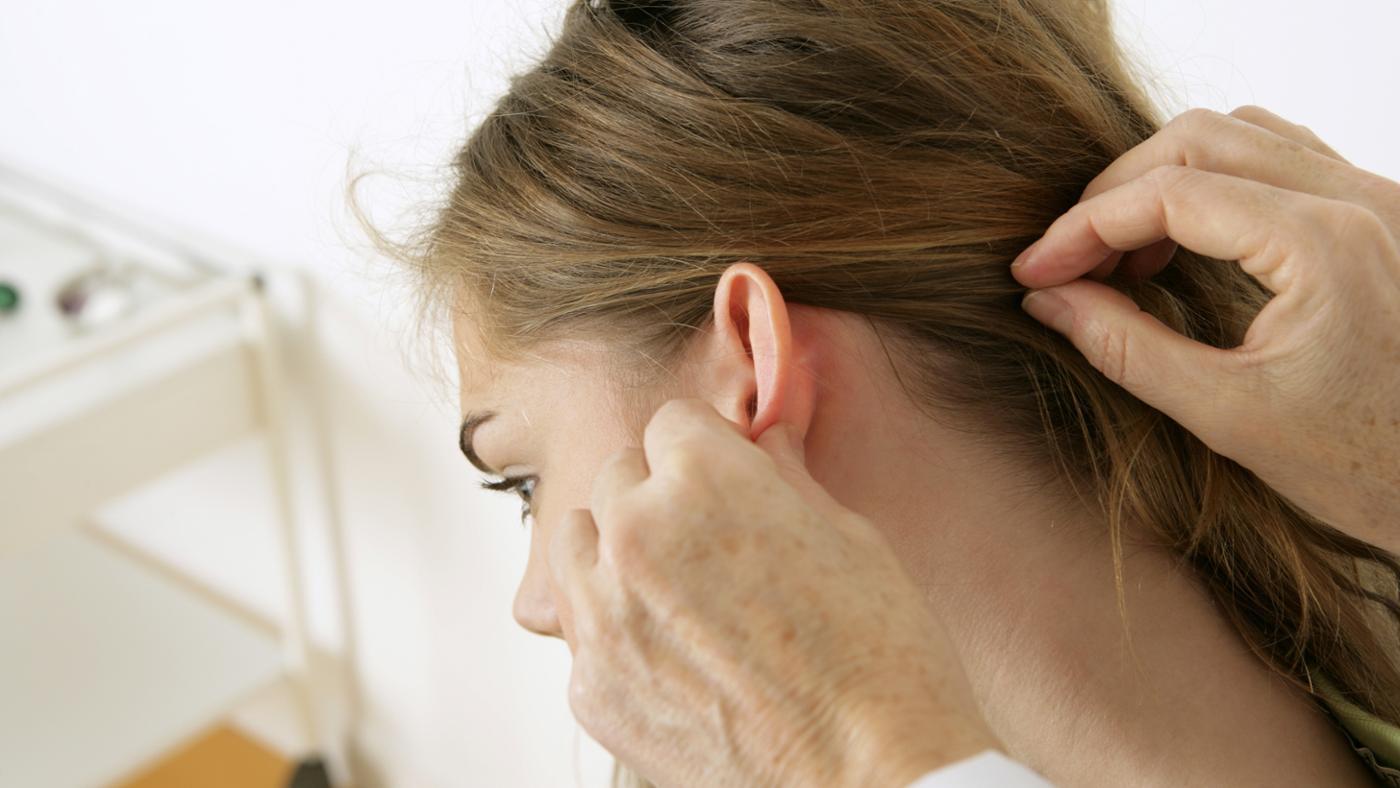 Увеличение лимфоузлов за ухом