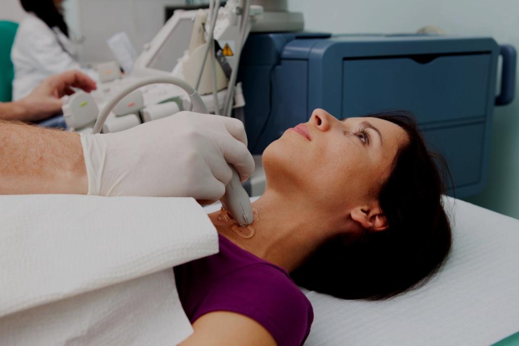УЗИ при увеличение лимфоузлов на шее