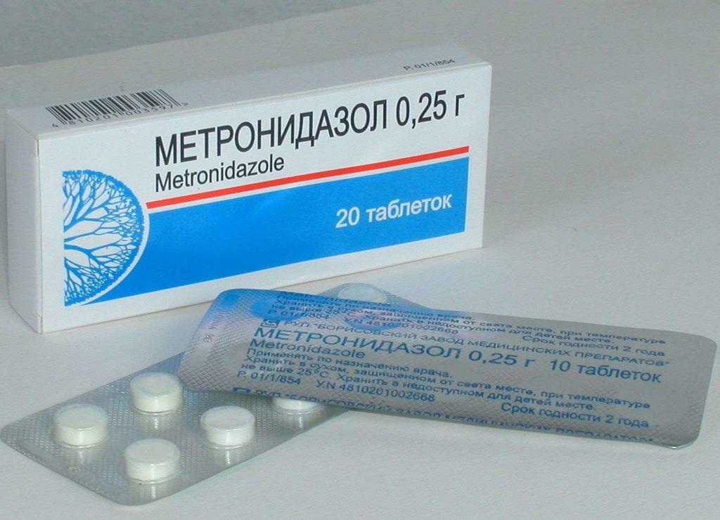 Метронидазол при увеличение лимфоузлов на шее
