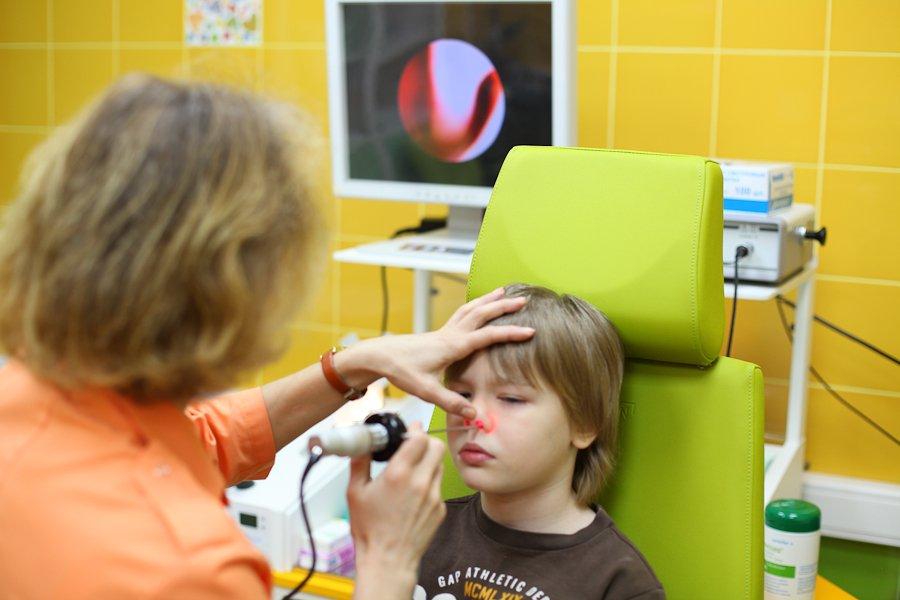 Проведение эндоскопии аденоидов у детей