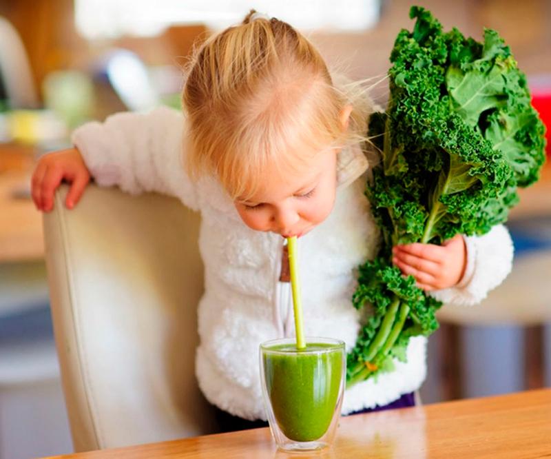 свежая зелень для детского организма